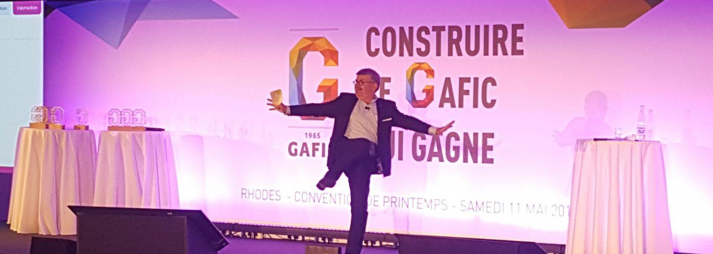 Hervé Gougeon anime sa 3000e conférence, pour le Gafic... à Rhodes !