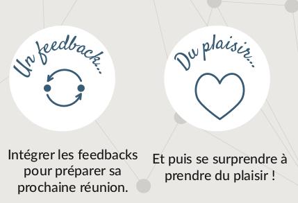 Pour réussir votre prochaine réunion, tenez compte des feedback des participants... et prenez du plaisir !